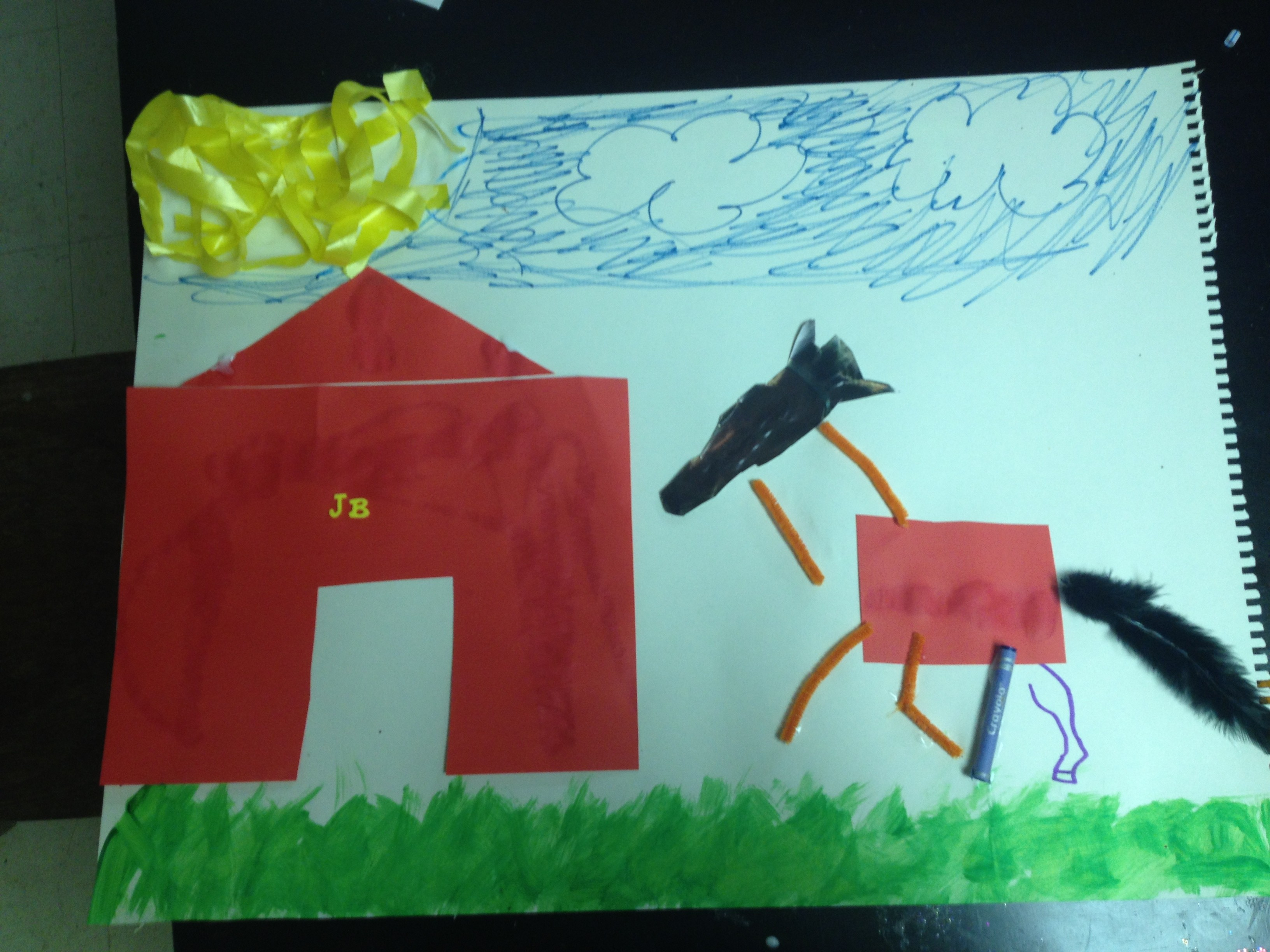 This HALO youth used his items to create a horse and barn.