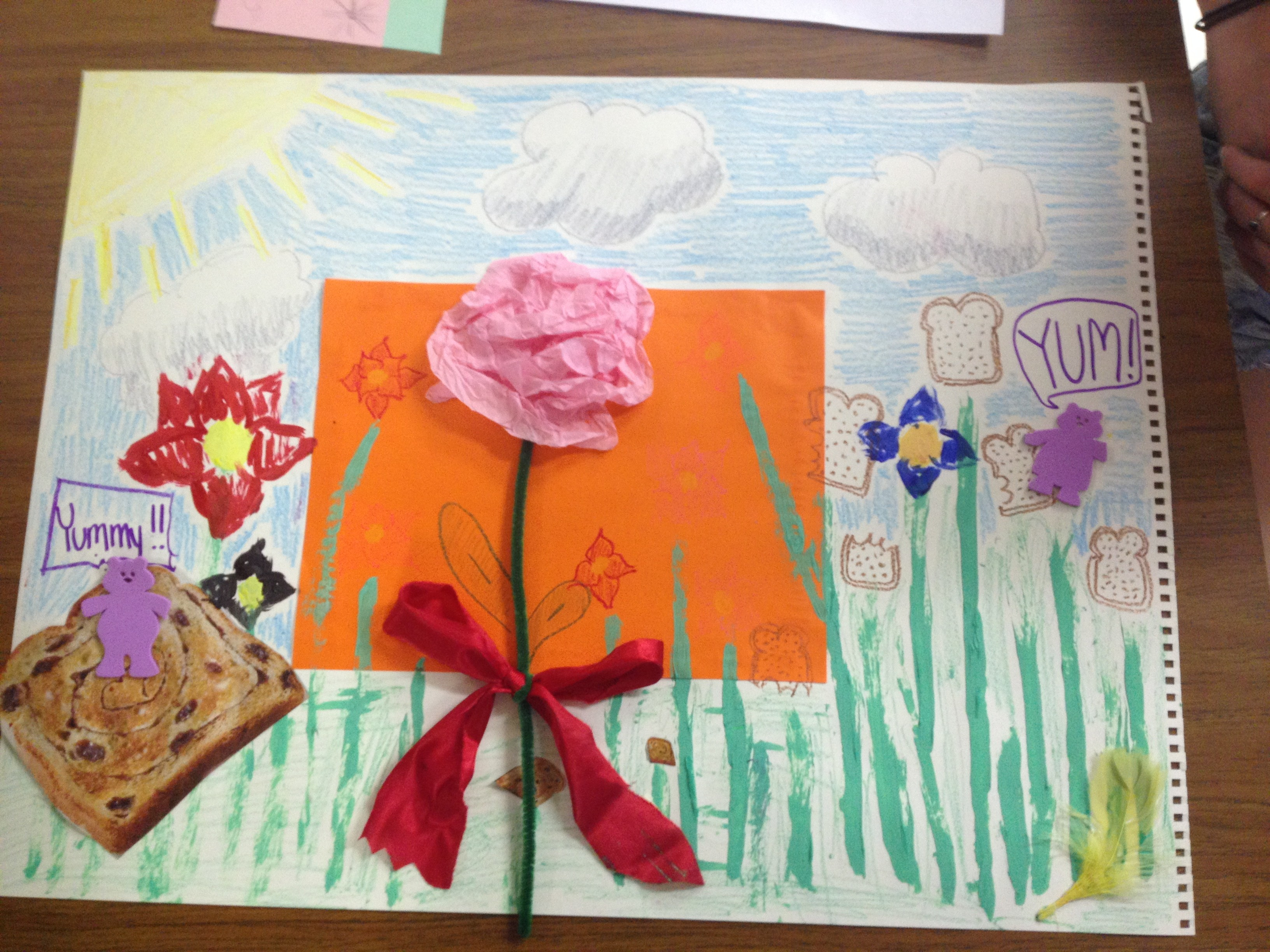 "One HALO youth worked with a volunteer to create a ""toast garden."""