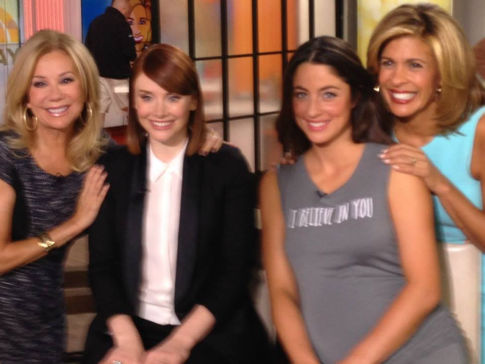 Kathie Lee Gifford, Bryce Dallas Howard, Rebecca Welsh, and Hoda Kotb