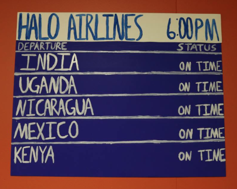 "All the flights for ""HALO airlines"" are on time for Passport Day!"