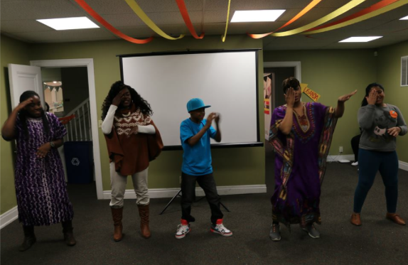 HALO youth learn traditional dance moves from Kenya!
