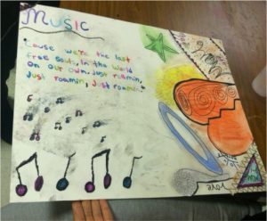 "This group chose ""What I'm Passionate About"" for their topic – one youth is passionate about music and wrote some of her favorite lyrics, while the other youth is passionate about her relationship with her mom and making it work through their struggles."