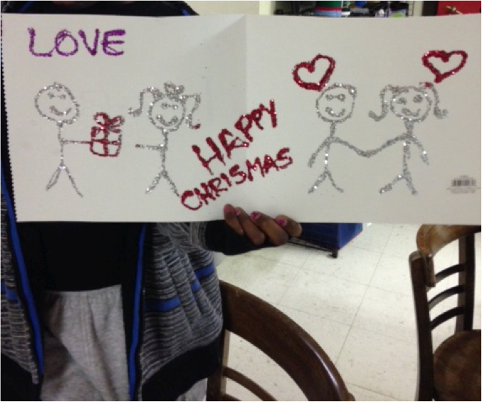 This HALO youth has Christmas on the brain as she thinks about compassion and love.
