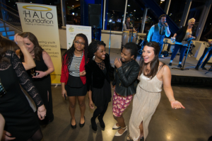 HALO youth dance with HALO Program Director, Lacy Voight, to the live tunes of Lost Wax!