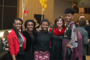 HALO youth have fun with Katie Van Luchene of This is KC magazine and local fashion designer, Whitney Manney.